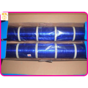 M-type bright blue metallic polyester flat knit yarn