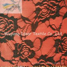 Кружевной ткани с полиэфирной ткани для женщин платье