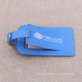 High Quality Genunine Leather Luggage Tags with Blue
