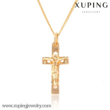 32424 Xuping fashion 18k gold plated religious cross pendant