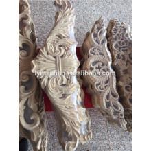 Apliques de madeira de madeira de apliques de móveis de borracha e onlays