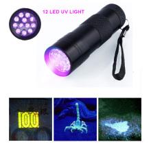 12LED UV Flashlight Détecteur d'argent UV Light Black Light Grasp Scorpion Light