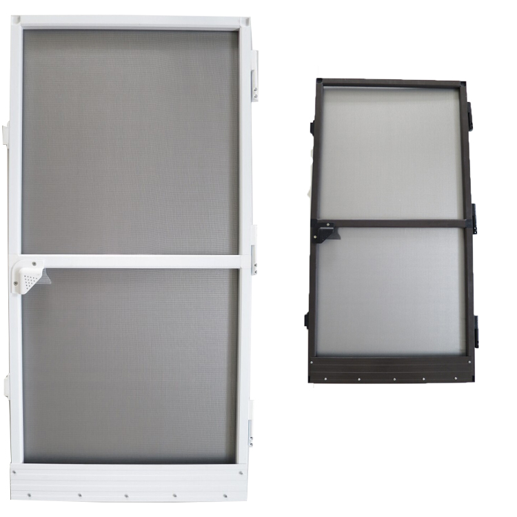 Puerta fija de la mosquitera de la pantalla del insecto del marco de ...