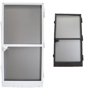 Aluminum Fixed Frame Fly Screen Porta Hinged Door