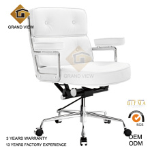 While Leather Manager Swivel Office Chair (GV-ES104)