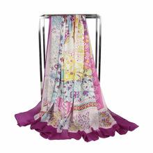 Fashion Printing chiffon lace scarf Square Scarf