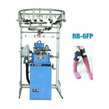 Hot sale reasonable price for Single Cylinder Sock Knitting rb-6fp multi-functional plain socks machine in italy supply to Belgium Factories