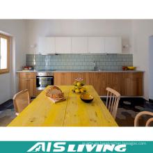 Muebles de gabinetes de cocina de chapa con manija (AIS-K341)