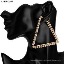Wholesale Claw Chain Earrings Geometric Acrylic Diamond Inlaid Earrings Fashion Jewelry