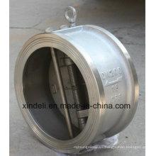 Válvula de retención de discos basculantes de obleas