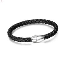 2017 pas cher mince boucle magnétique PU bracelet en cuir