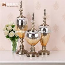 Arte y artesanías diseño de decoración para el hogar MY0002 Oro color resina decoración artesanía de vidrio