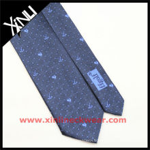 Cravate faite sur commande de cravate en soie de logo de golf