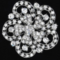 High Quality Crystal Brooch Decorative Garment Dress Accessories Wedding Bridal Luxury Rhinestone Flower Brooch Pin wholesale