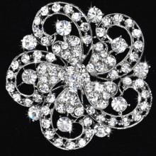 High Quality Crystal Brooch Decorative Garment Dress Accessories Wedding Bridal Luxury Rhinestone Flower Brooch Pin wholesale