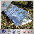 Película de aluminio laminada de doble cara de 10 micrones laminada de polietileno para conducto de aire flexible