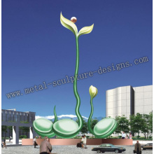 large abstract metal sculpture for outdoor decoration