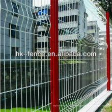 Grüner Farbe PVC-überzogener geschweißter Maschendraht-Zaun