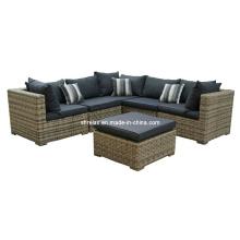 Garden Wicker Outdoor Furniture Rattan Patio Sectional Sofa Set