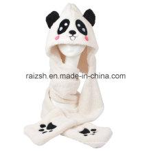 Panda chapéus lenços de luvas de três peças integralmente para senhoras