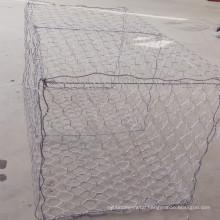 Heavily Galvanized Collapsible Galfan Gabion Basket Walls / Flood control wire mesh