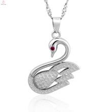 Bijoux en gros 925 Bijoux en argent pendentif Swan collier