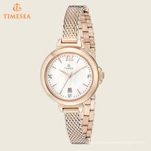 Diamante de la Mujer de la Galería de Oro de Oro-Tono reloj de acero inoxidable 71221