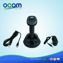 One-to-One emparejado hasta 2d Wireless Radio Wave Barcode Scanner con memoria