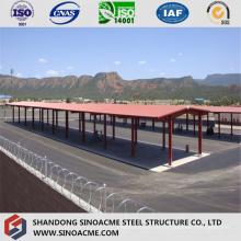 Vorentwickelter Stahlschuppen für Busbahnhof