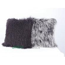 Cojín mongol tibetano suave al por mayor del bordado de la lana de la piel del cordero