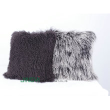 Wholesale Soft Tibetan Mongolian Lamb Fur Wool Cushion Cover