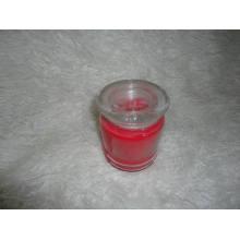 Vela de cristal perfumado natural del tarro