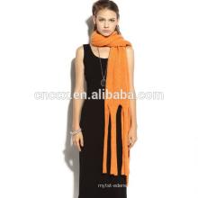 PK17ST175 cashmere scarf with tassel fringe
