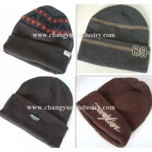 Wholesale custom design knitted warm caps