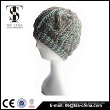 100% acrylique Bonnet bonnet en caoutchouc haute qualité