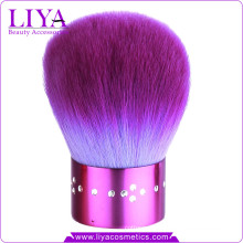 Pretty Purple Diamond Kabuki Brush for Travel Makeup