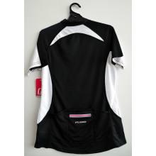 CC02-Black women's mesh cycling top with back pocket