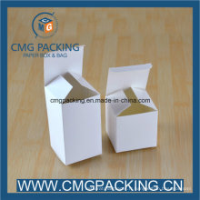 Boîte blanche d'emballage de papier de carte de cadeau de taille différente faite sur commande de coutume