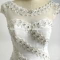 2017 Robe de Casamento nupcial nuptiale perles appliques tulle bouffant dentelle backless sirène bling nouvelle robe de mariée