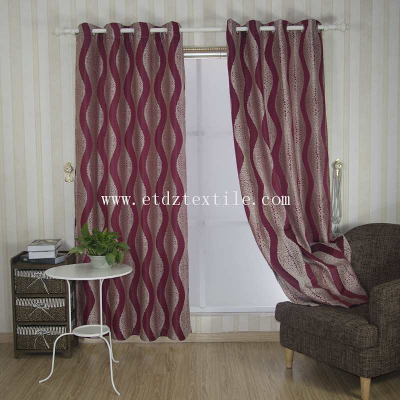European Style Embroidery Like Window Curtain GF028 Red