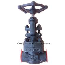 Válvula de globo forjada API602 do fim de linha do aço carbono A105