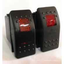 Commutateur marin de bascule des véhicules à moteur de commutateur de 12v / 24v arb LED