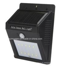 Lumière extérieure de sonde solaire de mouvement de 6 LED PIR de puissance solaire