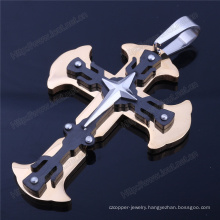 Whosale Cross Design Stainless Steel Pendant with Chain (IO-st199)