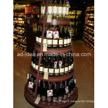 Four Layers Round Rack Stand/ Exhibition for Wine