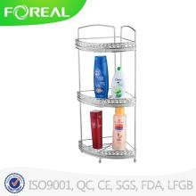 Free Standing 3-Tier Bathroom Corner Rack