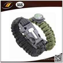 Militar Outdoor Sports Fivela de aço inoxidável 7 Core Paracord Bravura de Sobrevivência