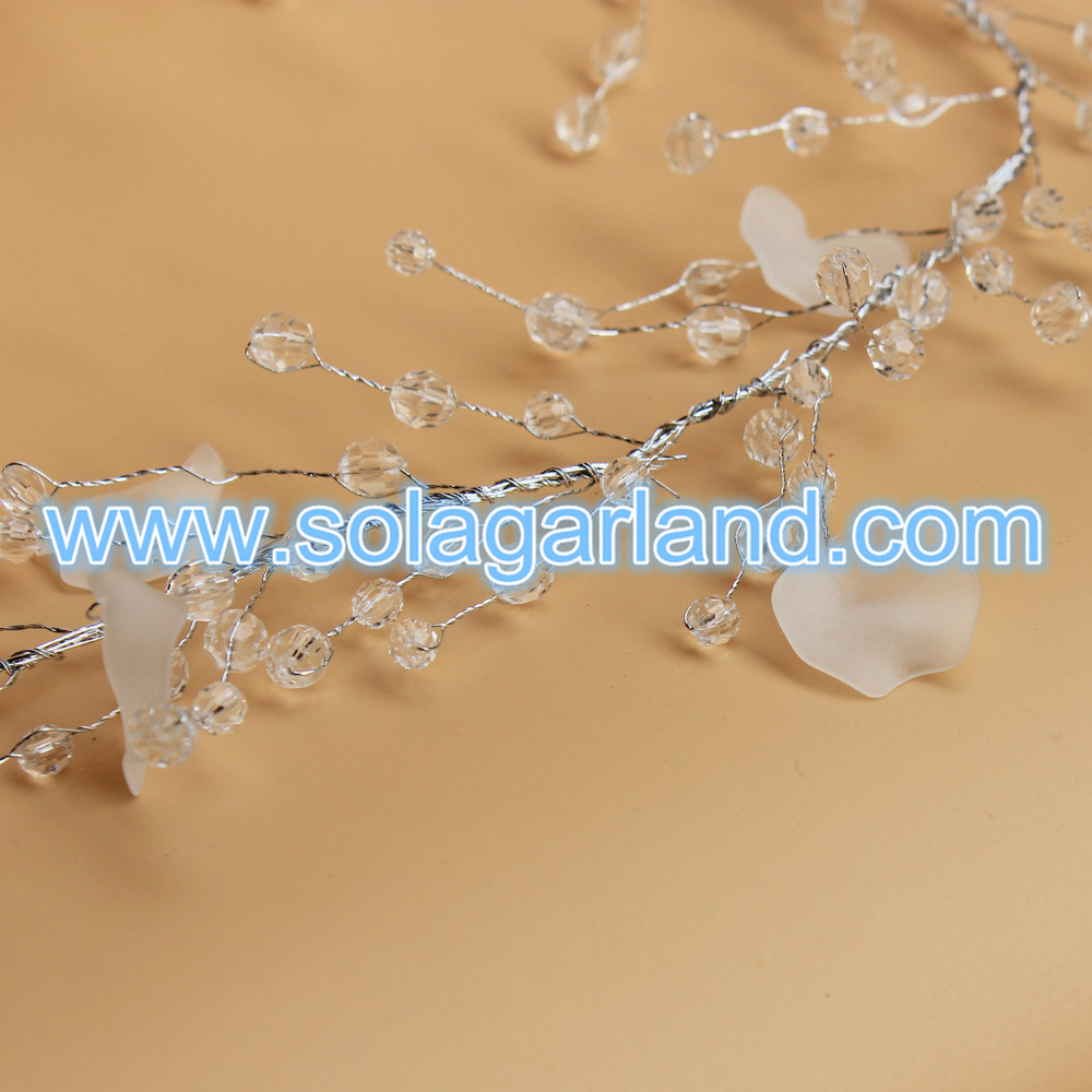 Silver Wire Trim Branch