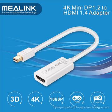 4k Mini Dp 1.2 ao cabo do adaptador de HDMI 1.4