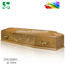 European standard semi gloss professional carving with professional lining for coffin decoration